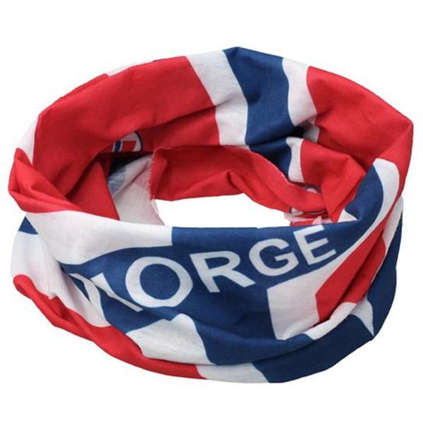 Image of Neck gaiter with norwegian flag design