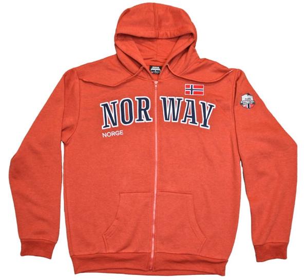 Image of Hooded jacket, orange, Expedition Norway 2469