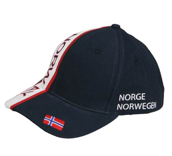 Image of Caps blue/white/red Norway and flag