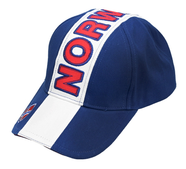 Image of Caps blue/white, Norge and flag
