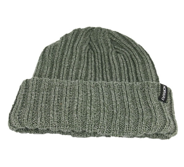 Image of Hat rib knitted, grey, Norway