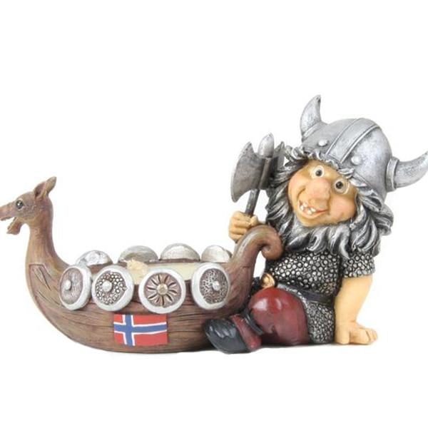 Image of Viking telight holder, Norwegian flag