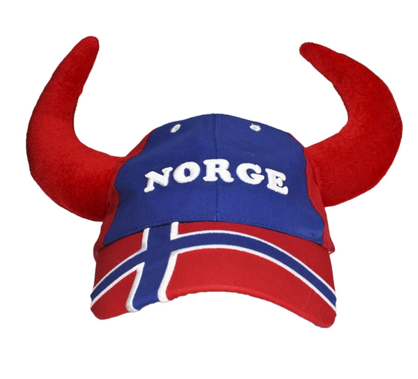 Image of Caps with horn, Norge, red/blue/white