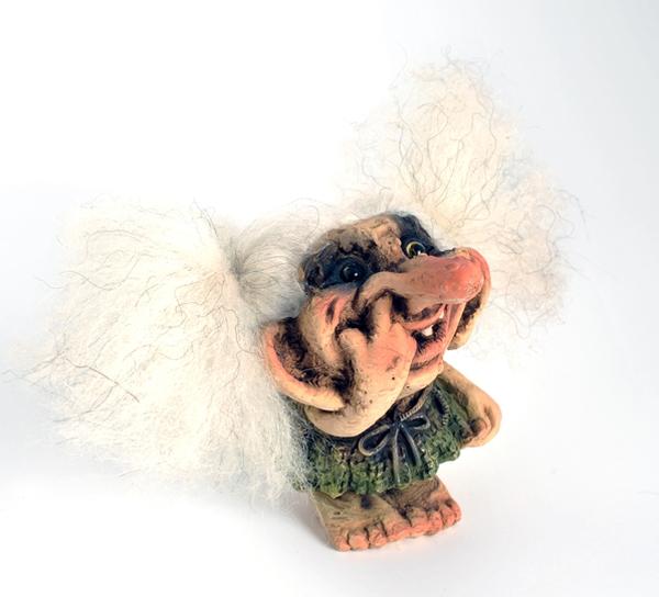 Image of Troll girl picking her nose, (Troll # 144)