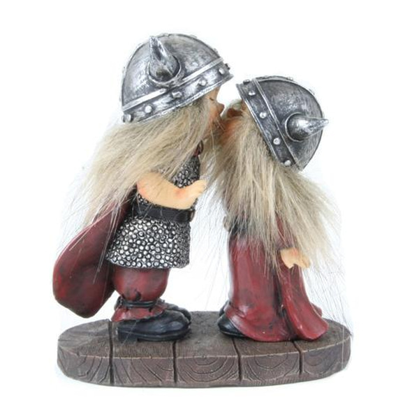 Image of Viking children kissing