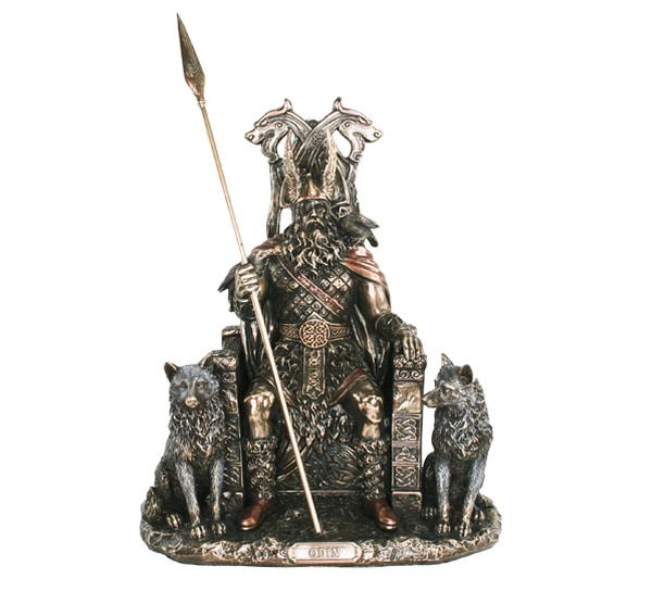 Image of Odin sitting on his throne