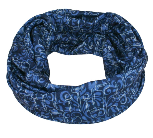 Image of Neck gaiter with cheese slicer, blue