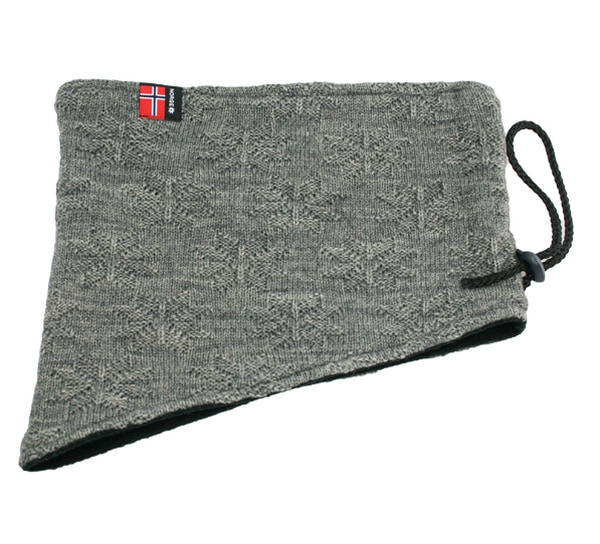 Image of Neck gaiter with purl stitch rose grey