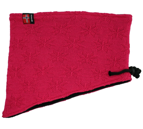 Image of Neck gaiter with purl stitch rose pink