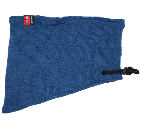 Image of Neck gaiter with purl stitch rose blue