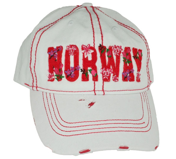 Image of Cap Norway, white/red