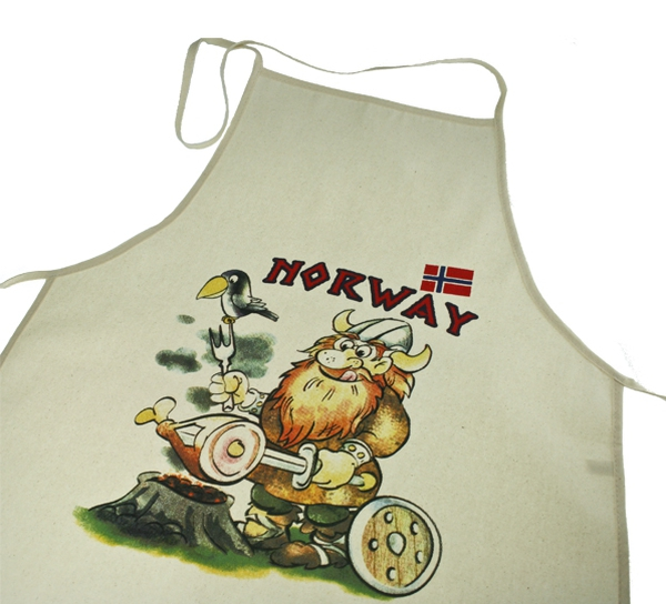 Image of Apron, offwhite, viking barbeques