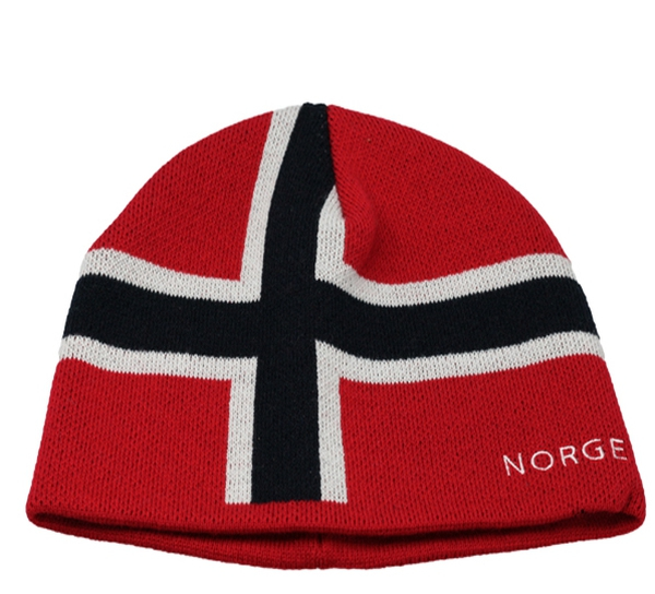Image of Flag hat Norway embroidery  red/white/blue