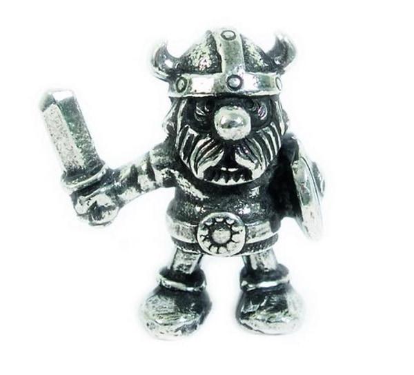 Image of Figurine, Viking w. shield Tinn-Per