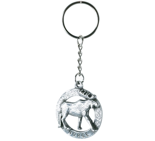 Image of Key Chain, polar bear, 'Norway' Tinn-Per