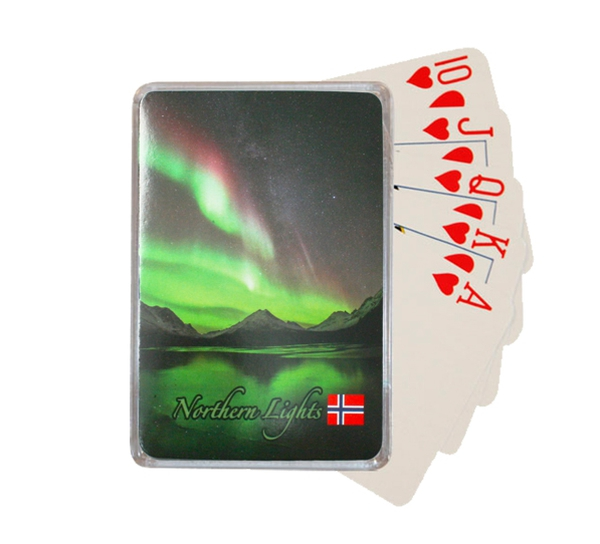 Image of Northern lights playing cards