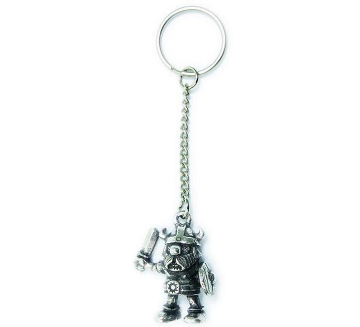 Key Chain, Viking with shield Tinn-Per