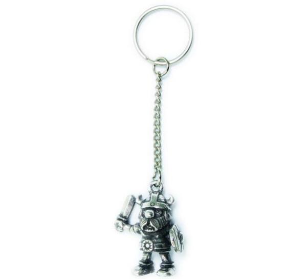 Image of Key Chain, Viking with shield Tinn-Per