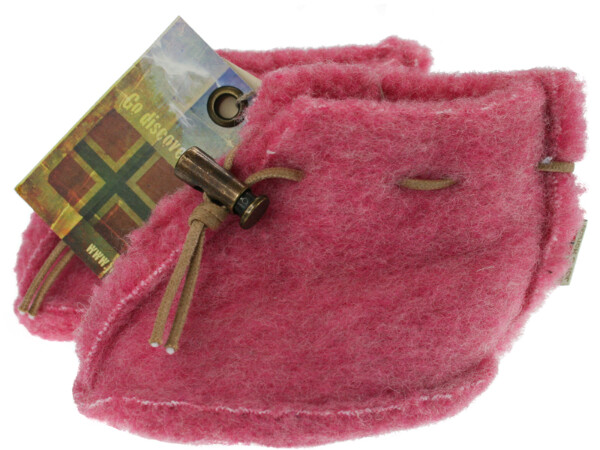 Image of Baby wool slippers, pink
