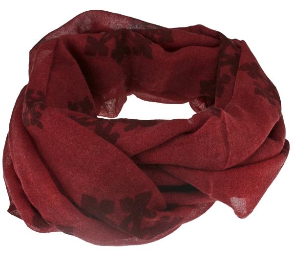 Image of Wool scarf snowflake red