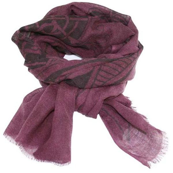 Image of Scarf, viking pattern, violett, 100% wool