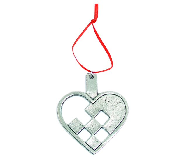 Image of Ornament, Woven heart Tinn-Per