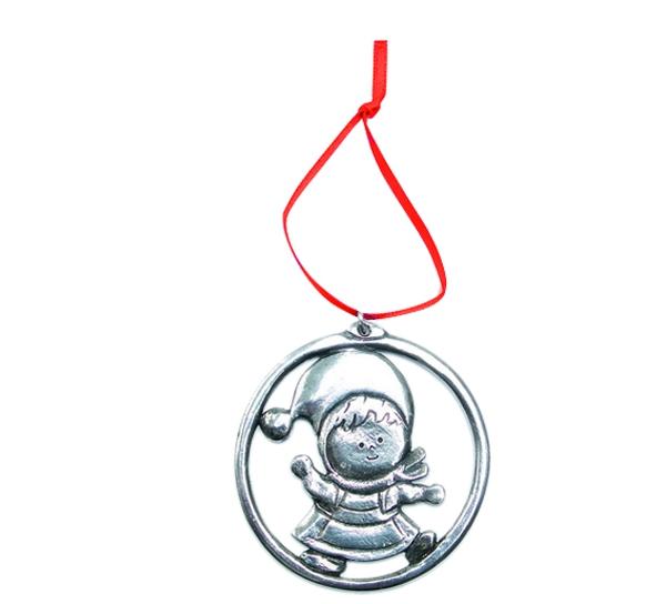 Image of Ornament, Christmas girl Tinn-Per