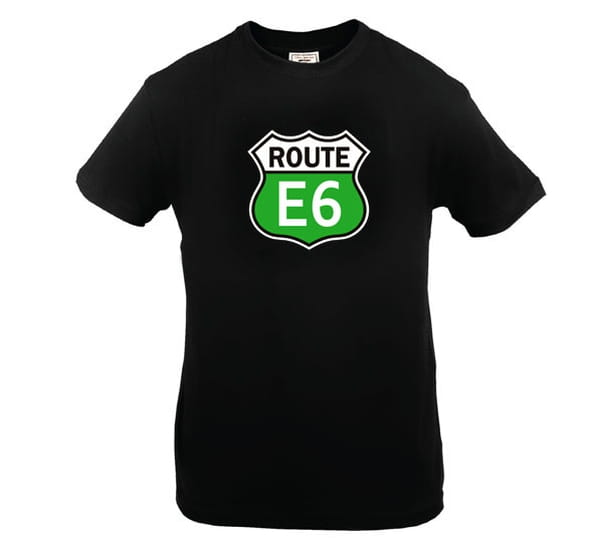 Image of T-shirt 'Route E6' black