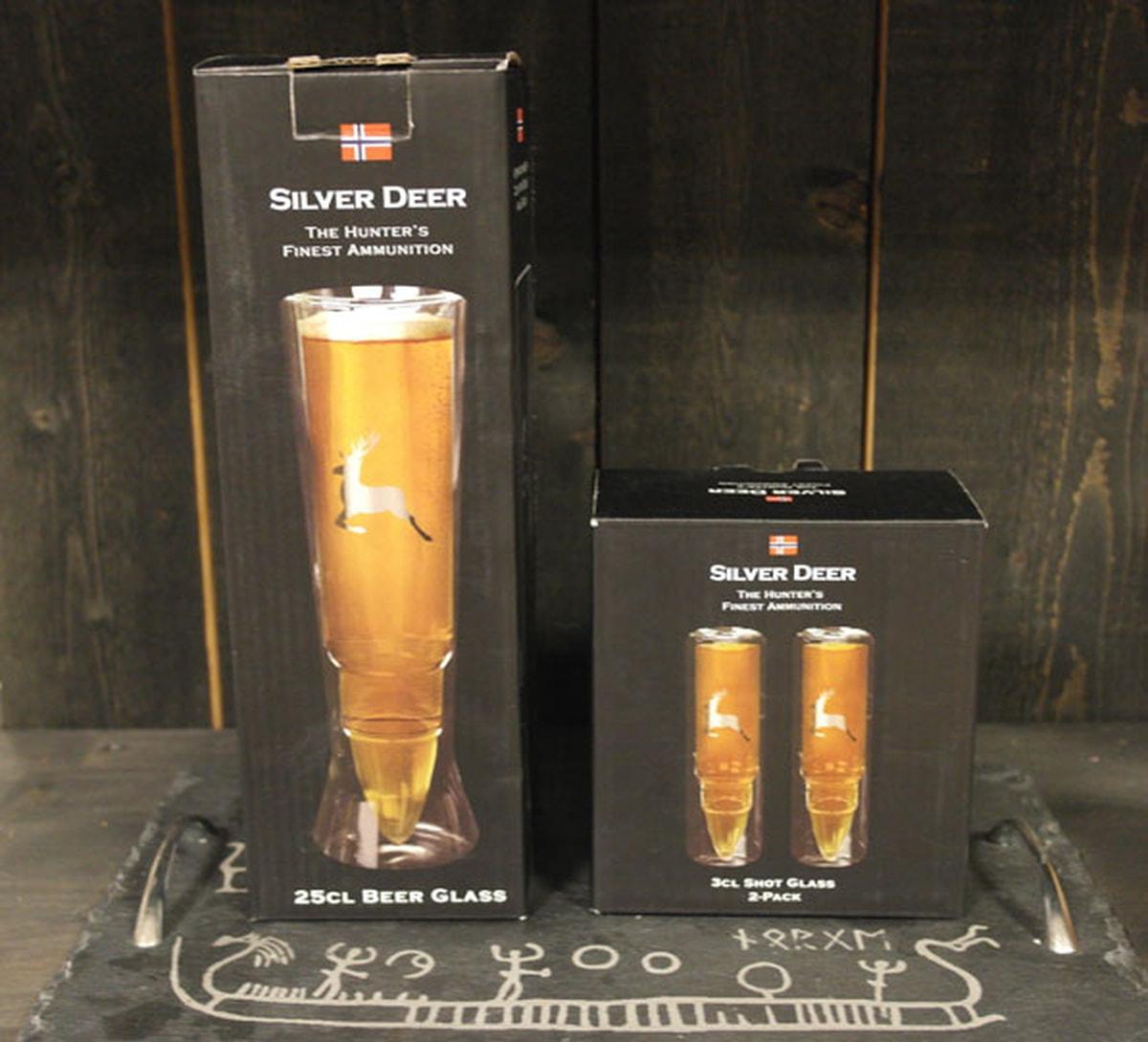 Silver Deer Shotglass - set of two