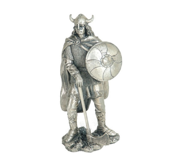Image of Viking with shield , pewter