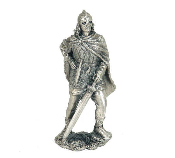 Image of Viking with sword, pewter