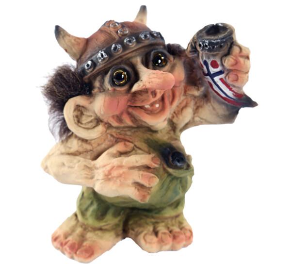 Image of Viking, viking troll holding drinking horn(Troll