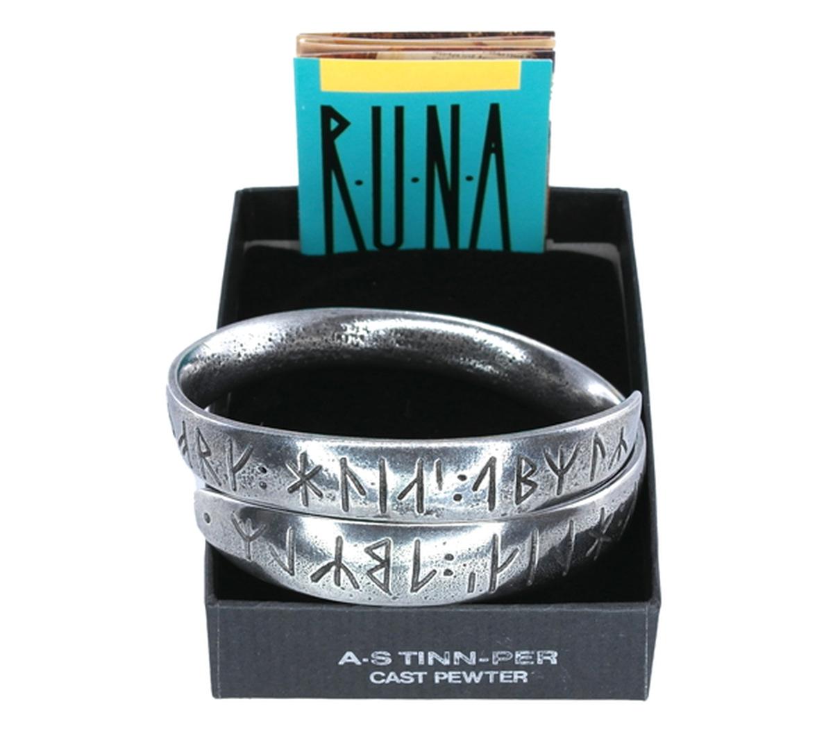 Bracelet, runic writing Tinn-Per