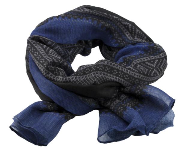 Image of Marius® scarf, black/blue