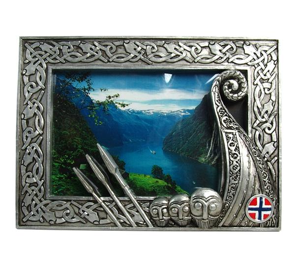 Image of Photo frame with Vikingship