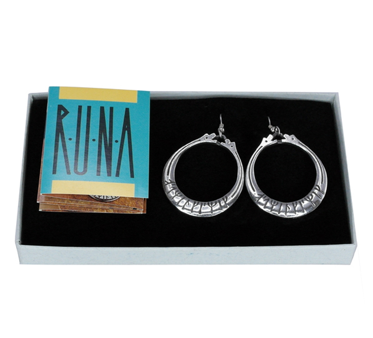 Earrings with runic writing Tinn-Per
