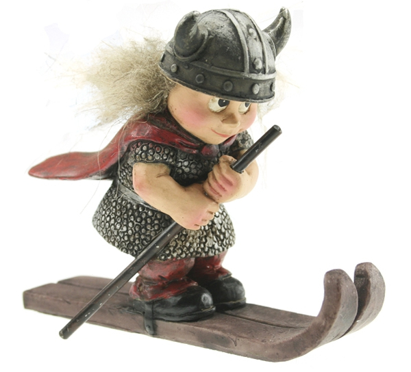 Image of Skiing Viking child