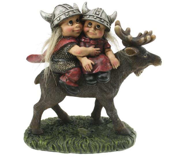 Image of Viking couple on a moose