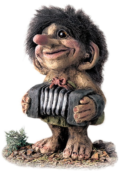 Image of Troll w/accordion (Troll # 246)