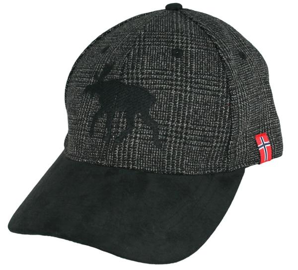 Image of Cap Tweed black/grey