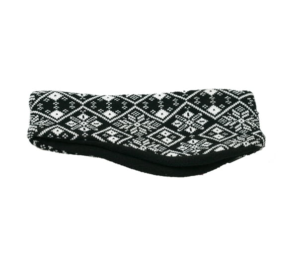 Image of Knitted head band black/white