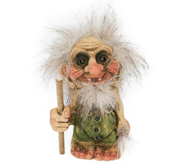 Image of Troll, small old with stick, (Troll # 008)