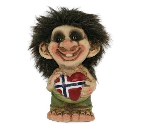 Image of Troll, flag heart, (Troll # 164)