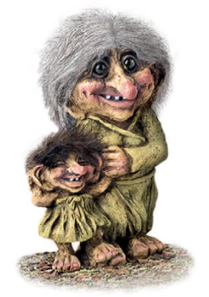 Image of Trollwoman w/girl (Troll # 266)