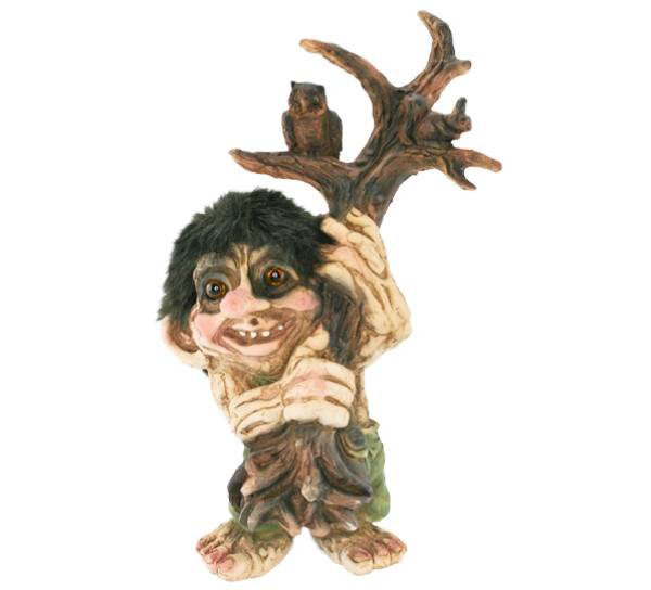 Image of Troll holding tree with owl, Limited edition