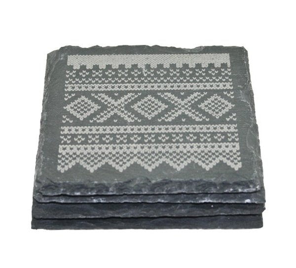 Image of 4pcs slate coasters, Marius® pattern©