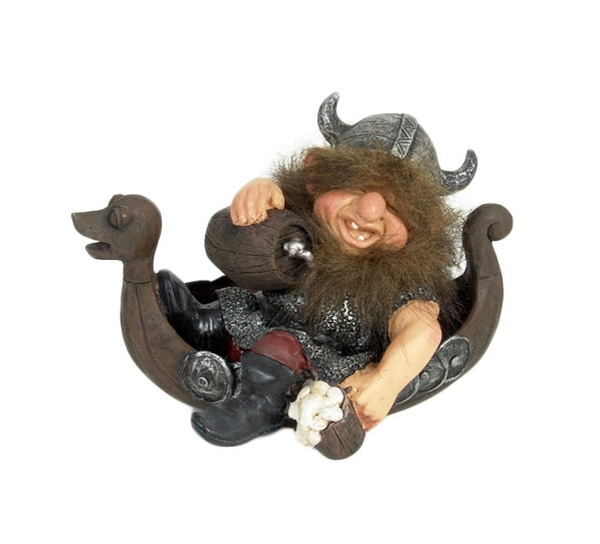 Image of Viking in boat, large