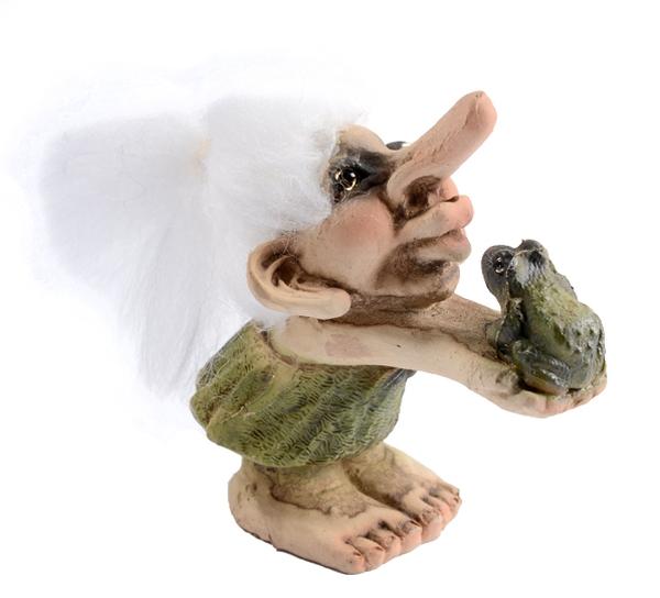 Image of Troll girl kissing frog (Troll # 023)