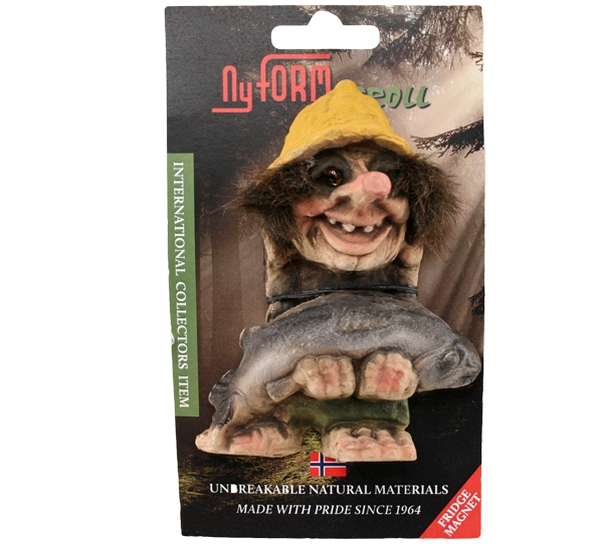 Image of Troll magnet, with fish (Magnet # 2005)
