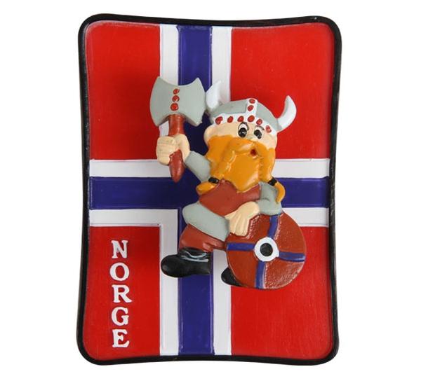 Image of Poly magnet, viking on flag